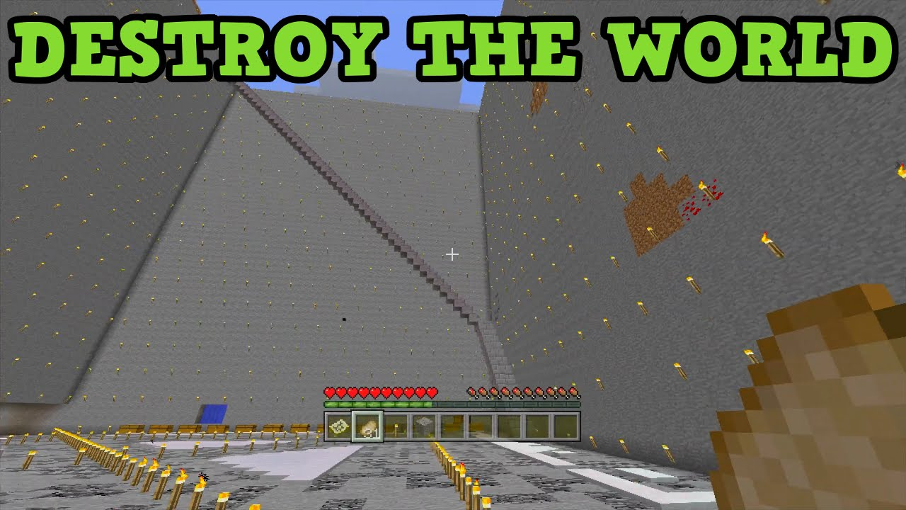Minecraft xbox 360 ps3 how long to destroy an entire world youtube - Intire decrution ...