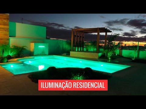 Iluminação piscina