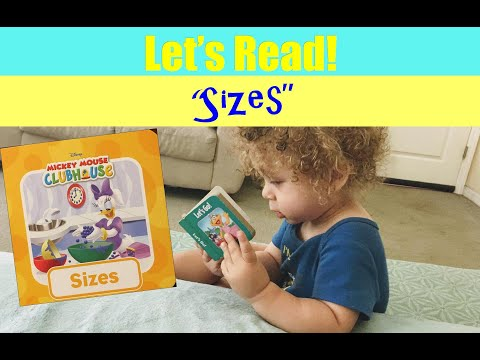 Let's Read About Mickey And His Clubhouse Friends Discovering The Many Different Sizes Of Things.