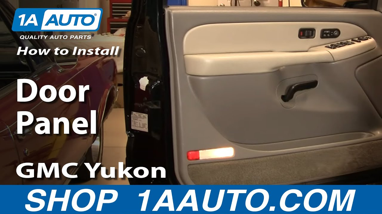 How To Remove Door Panel 99 02 Gmc Yukon Youtube
