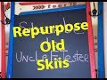 ♻Recycled skis🎿♻ Repurposed Skiis 🎿Mud Room Ideas 😎 Do Not Throw Away Ski Gear!
