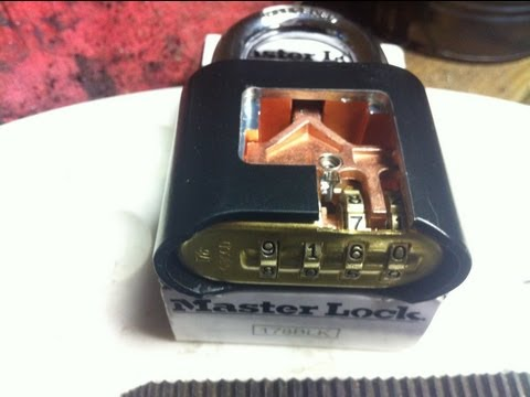 Master 3 Wheel Combination Padlock Crack In Under A M