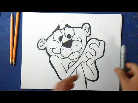 Como Desenhar O Pantera Cor De Rosa Youtube