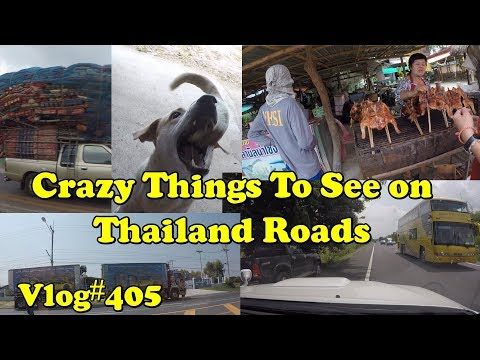 Crazy things to see on Thailand roads. Road trip back to Isan.