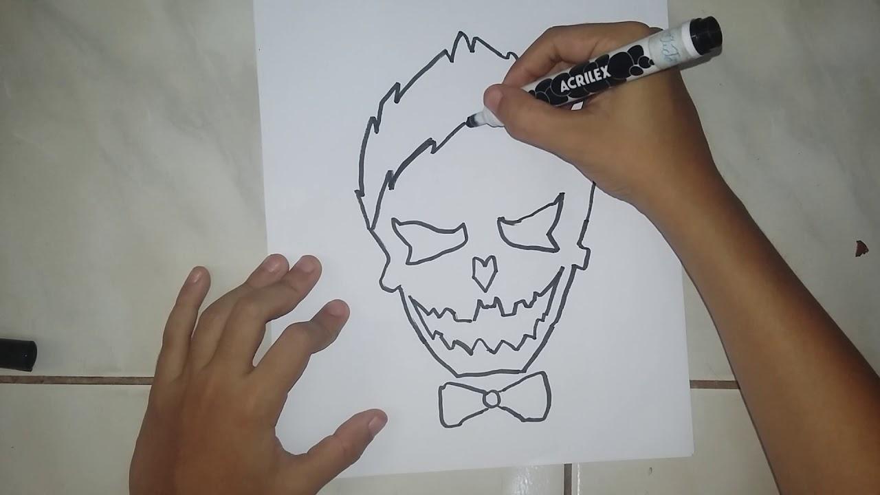 Como Desenhar A Caveira Do Coringa Desenhos 2 Youtube