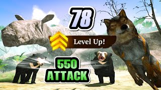 Level Up to 78 Without VIP & 550 Attack | 23K 💎 ☾ The Wolf Online Simulator 2021 screenshot 3