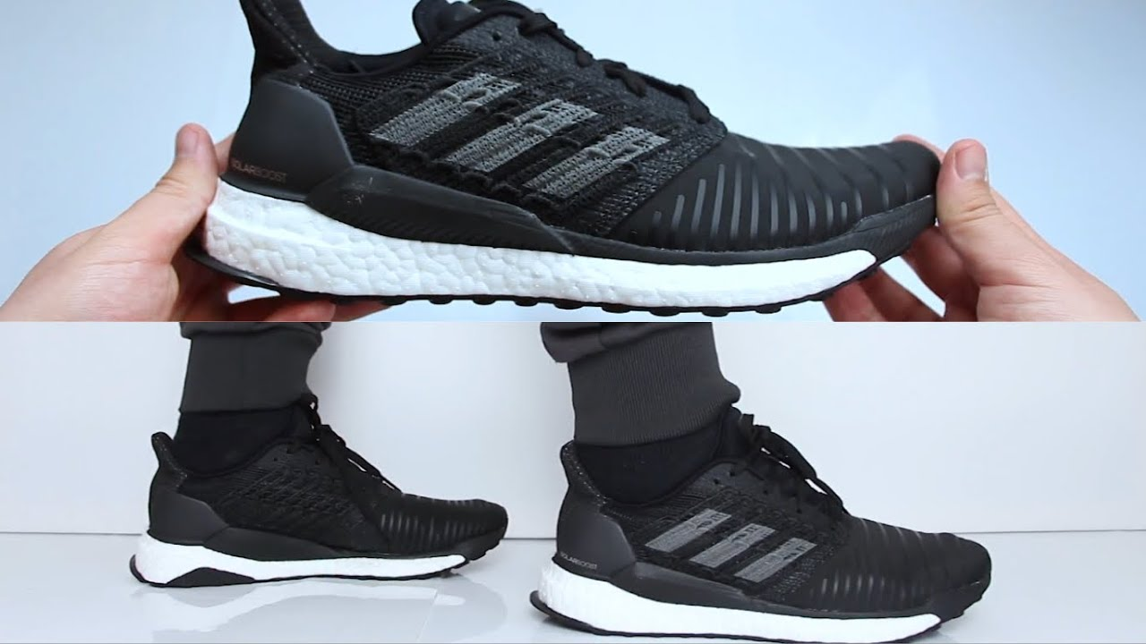 innovative design 7f644 17af2 Adidas Solar Boost Black  UNBOXING  ON FEET