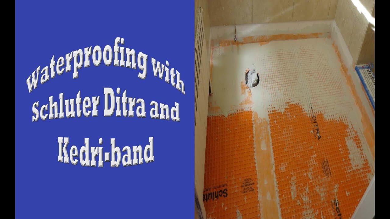 Schluter systems bathroom start to finish, Part 7 Waterproofing ...