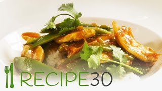 Thai Ginger & Lemon Grass Chicken Stir-fry Recipe30.com