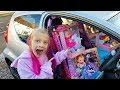 Car full of DOLLS toys on Ava Toy Show