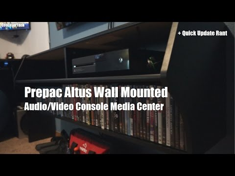 Prepac Altus: Wall Mounted Media Center + Quick Rant