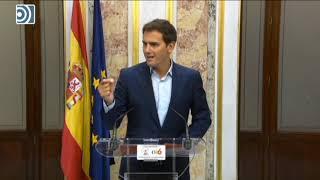 Albert Rivera exige a Pedro Sánchez que publique el informe antiplagio de su tesis