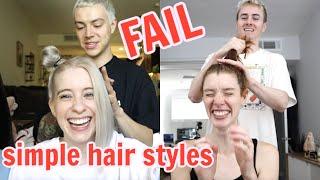 BOYFRIENDS  STYLE OUR HAIR (FAIL)