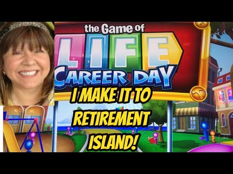 TIME TO RETIRE TO A ISLAND! GAME OF LIFE CAREER DAY SLOT BONUS