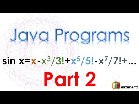76 Java Series Sine Part 2 |