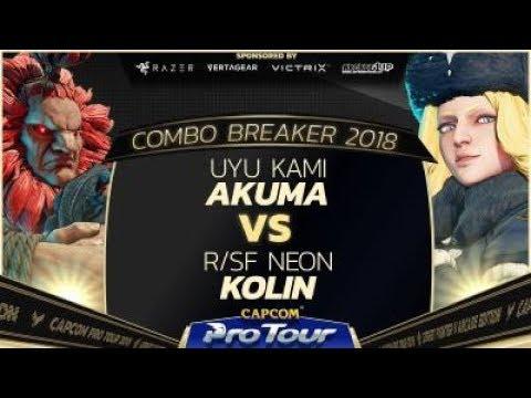 UYU Kami (Akuma) vs. R/SF Neon (Kolin)  - Combo Breaker 2018 Pools - Day 2 - SFV - CPT 2018