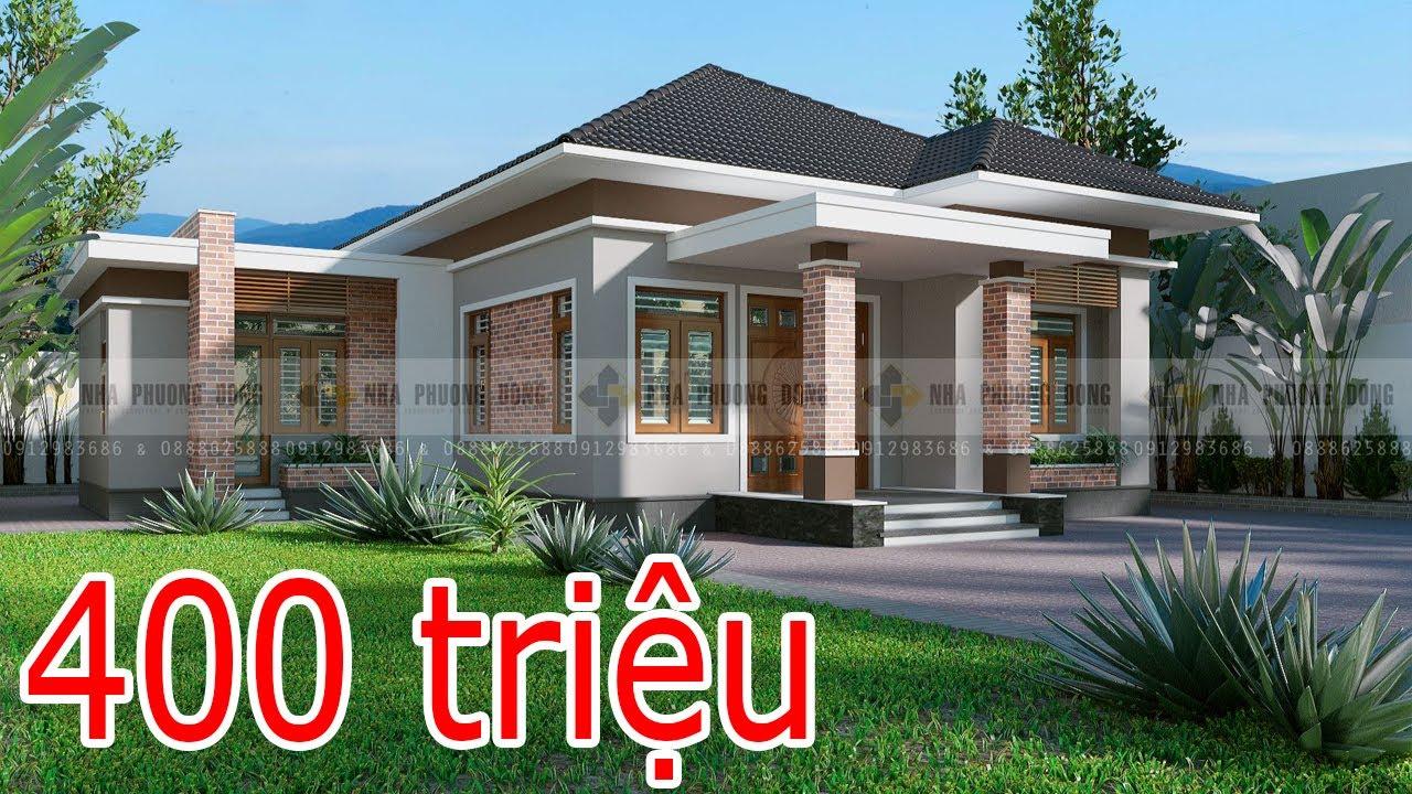 Top 100 mẫu thiết kế nhà cấp 4 đẹp và rẻ nhất hiện nay chỉ từ 400 triệu