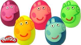 Aprende los Colores con Huevos Sorpresas de Peppa Pig Plastilina Play Doh thumbnail