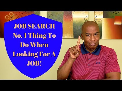 Job Search: The Only Thing You Need To Be Doing 2019