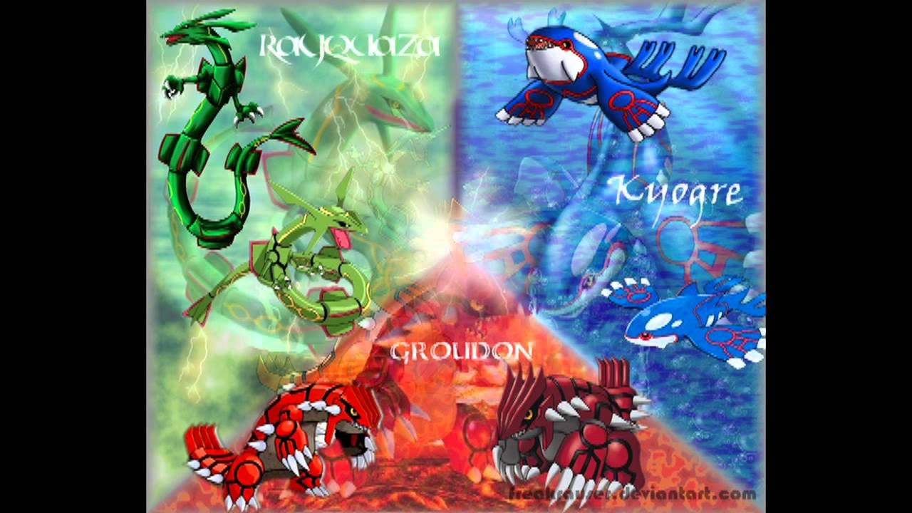 Pok mon rse orchestral arrangements legendary battle groudon kyogre and rayquaza youtube - Pictures of groudon and kyogre ...