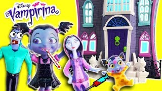 Vampirina Gets Sick in the Scare B&B w/ Oxana, Boris & Gregoria & Doc McStuffins cures w/ Slime!