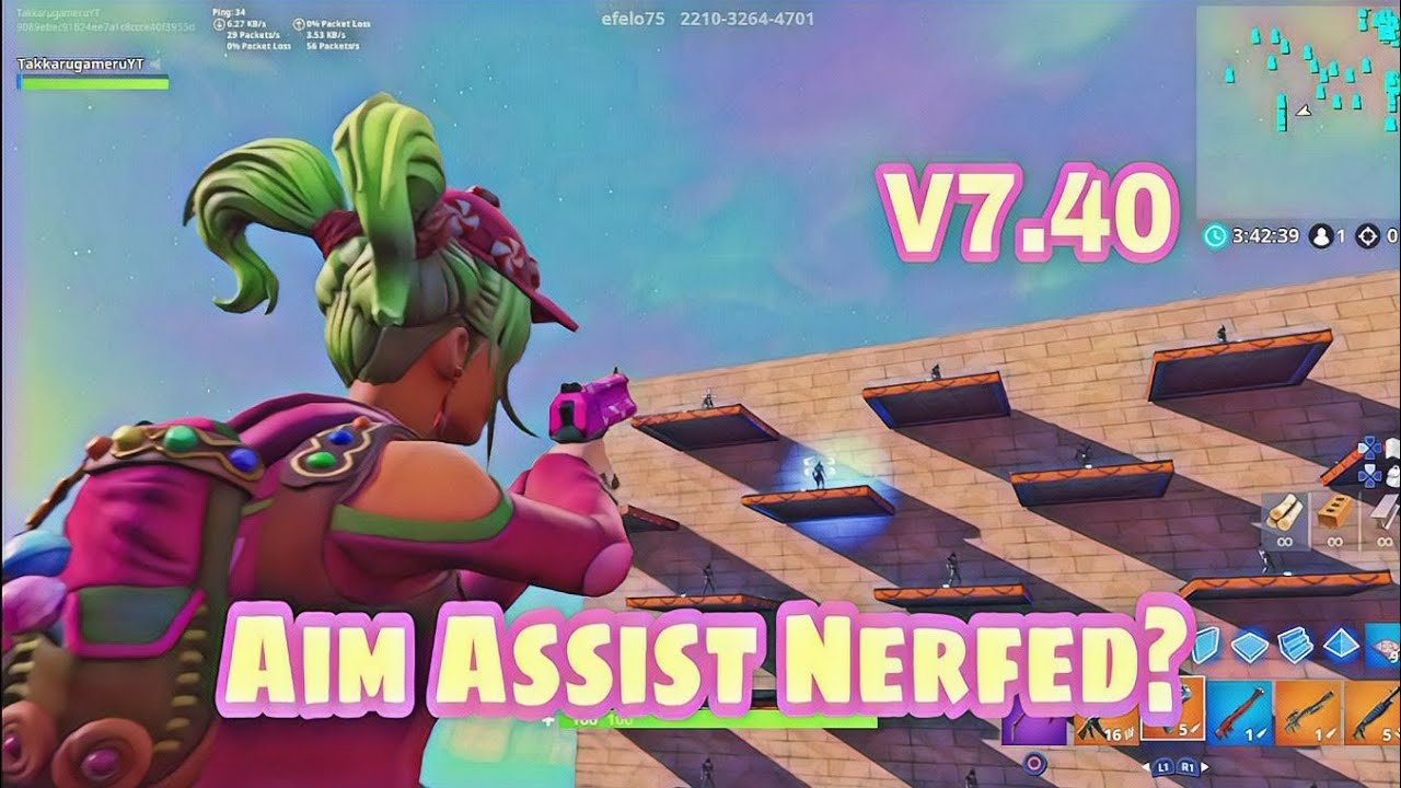 Epic Games announces a change to the Fortnite v7.40 aim assist adjustments