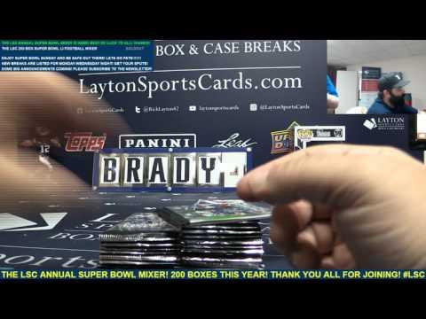 The Layton Sports Cards SUPER BOWL LI 200 Box Football Ultra Mega Mixer