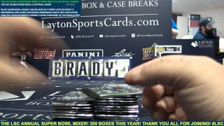 The Layton Sports Cards SUPER BOWL LI 200 Box Football Ultra Mega Mixer
