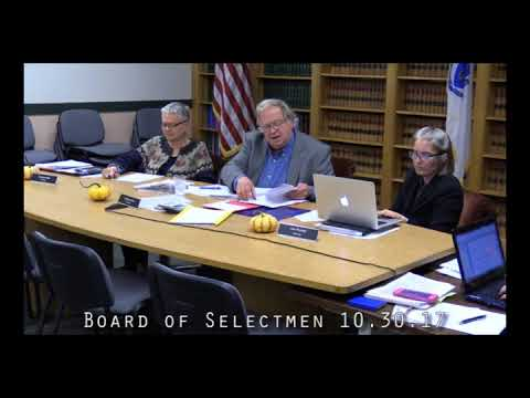 Board of Selectmen 10.30.17