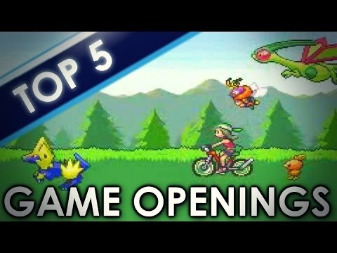 Top 5 List - Main Pokémon Game Openings