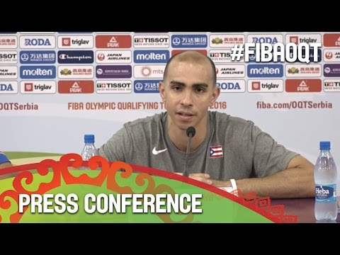 Latvia v Puerto Rico - Press Conference - 2016 FIBA Olympic Qualifying Tournament - Serbia