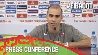 Latvia v Puerto Rico - Press Conference - 2016 FIBA Olympic Qualifying Tournament - Serbia