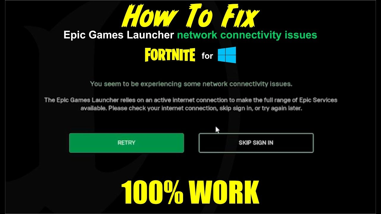 (Cara mengatasi) How To Fix Epic Games Launcher Network ...