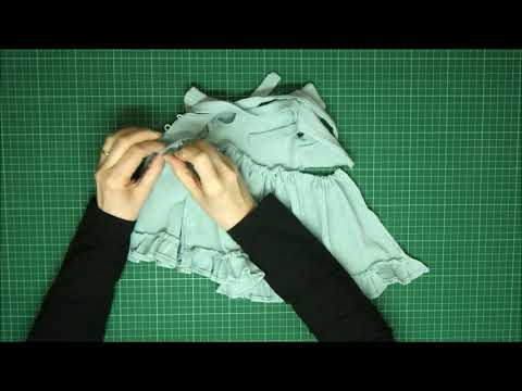 Rag Doll Outfit Making - Pinafore And Bonnet Part 3 - Attaching The Skirt