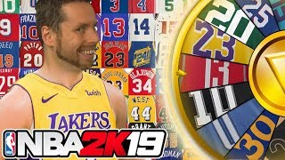 WHEEL of NBA JERSEYS! NBA 2K19