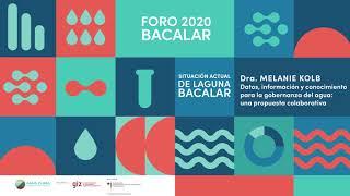 Dra. Melanie Kolb . Instituto de Geografía UNAM . Foro 2020 Agua Clara Bacalar