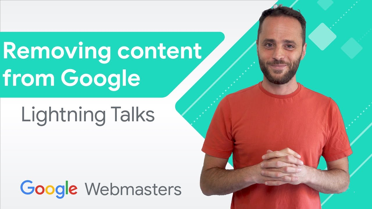 Removing content from Google   WMConf Lightning Talks