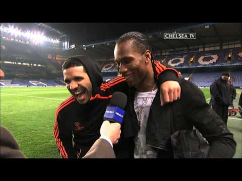 Chelsea FC - Drake And Drogba Post Match Reaction: Benfica
