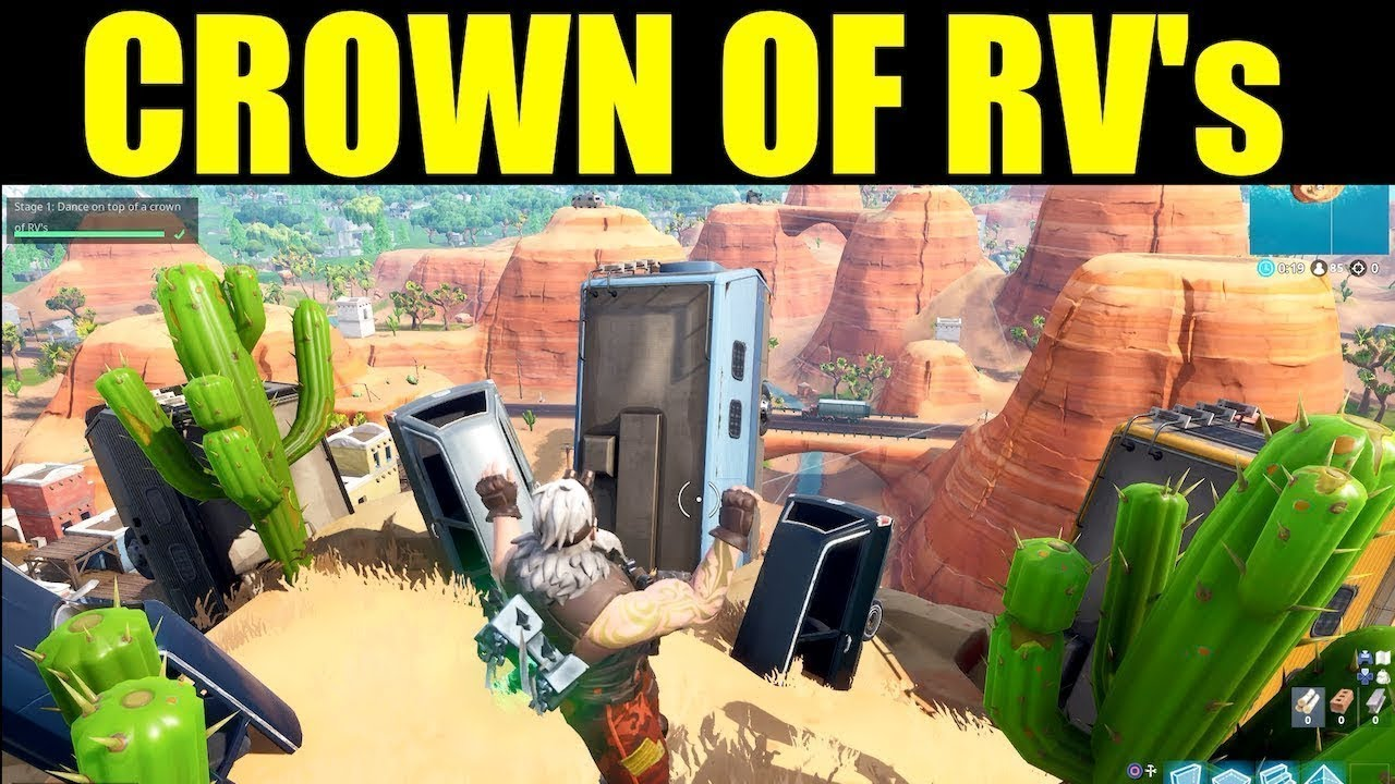 Dance On Top Of A Crown Of Rv S Location Fortnite Battle Royal