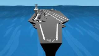 Nimitz class aircraft carrier (blender animation)