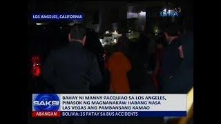 Bahay ni Manny Pacquiao sa Los Angeles, pinasok ng magnanakaw