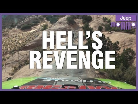 Jeep Off-Road on Hell's Revenge in Moab  with Outlaw Jeep Tours