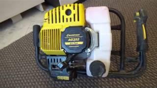 видеообзор мотобура Champion (power & force) AG352