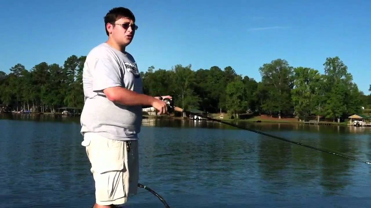 Lake sinclair summertime bass fishing youtube for Lake sinclair fishing