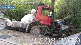 Подборка аварии ДТП на видеорегистратор за 27.08.2019 год
