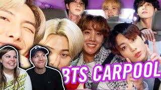 BTS Carpool Karaoke ON THE LATE LATE SHOW WITH JAMES CORDEN  PAPA MOCHI HILARIOUS COUPLES REACTION