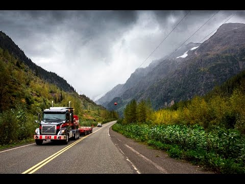 Volvo Trucks – Running footage: A Volvo VNX 630 with oversized load in the Canadian wilderness
