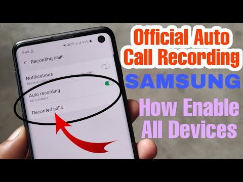 Official Auto Call Recording Option Enable Every Samsung android devices