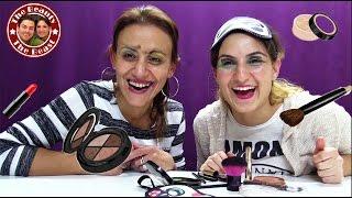 schmink challenge makeup mit verbundenen augen thebeautyandthebeast