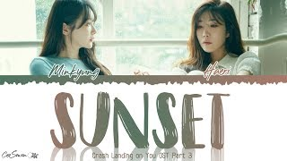 다비치 (Davichi) – SUNSET (노을) Crash Landing on You OST Part 3 (Lyrics)